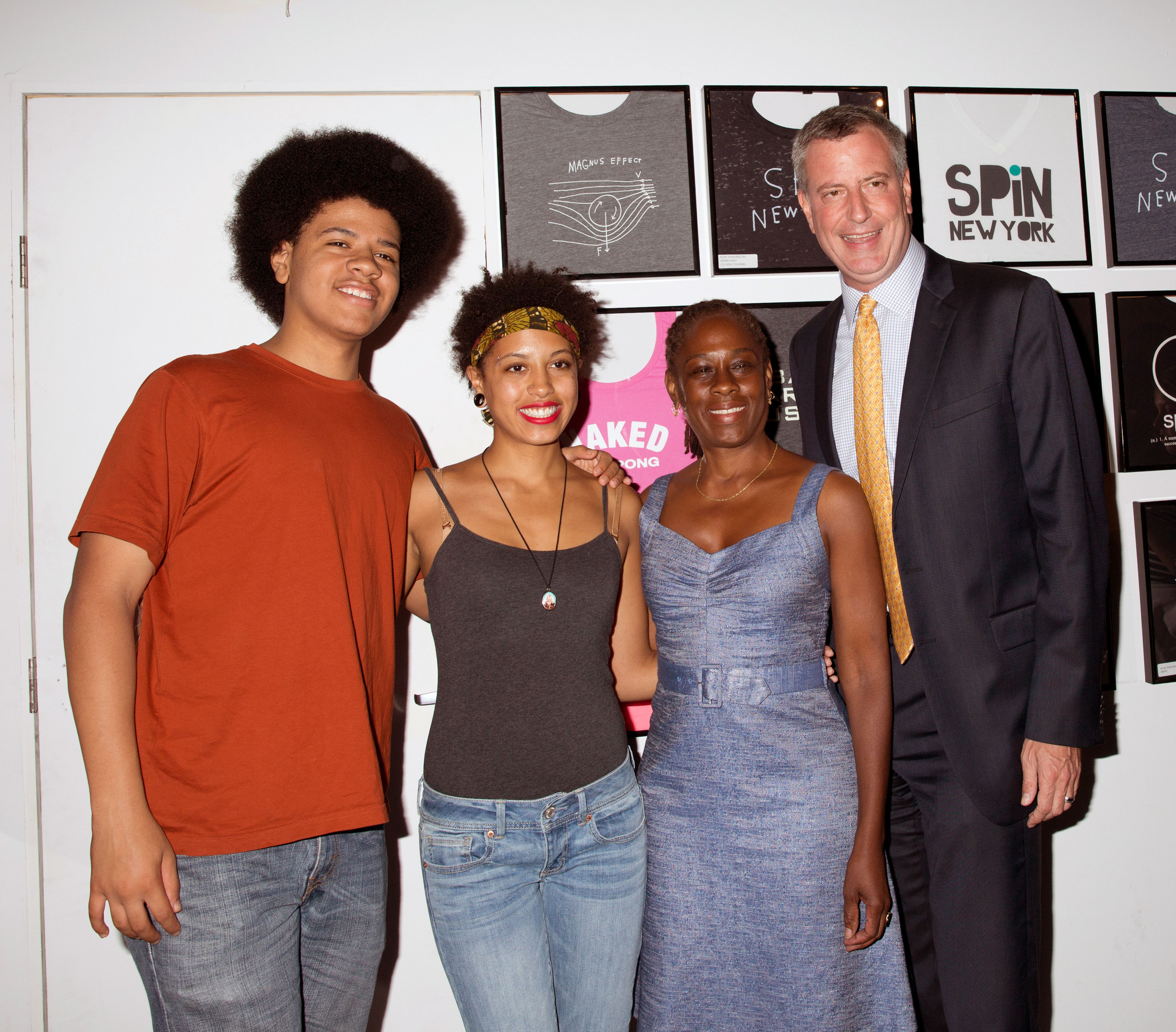 Susan Sarandon hosts ping pong event to support Bill de Blasio for mayor at Club Spin, NYC