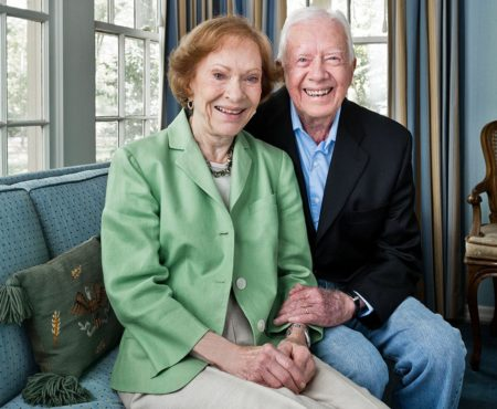 Rosalynn-Carter-y-el-expresidente-estadounidense-Jimmy-Carter-450x370
